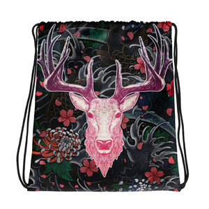 Tattoo Roselight | Antlers & Accents | Designer Drawstring bag