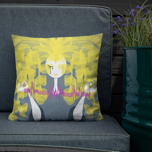 Goldie Doll | FragMental LifeLines | Variant Reversal Double-Sided Premium Pillow