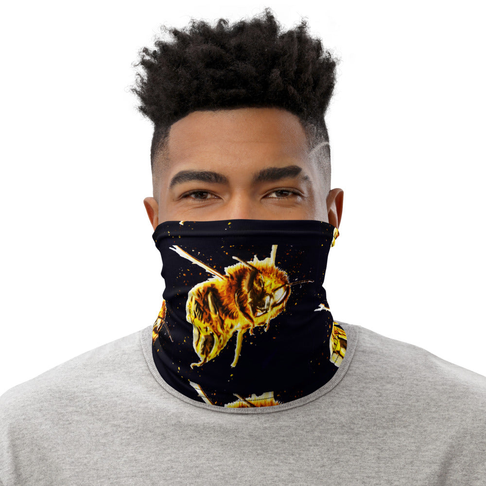 Bee Bomber | HoneyPaint II | Designer Safety Mask | Neck Gaiter