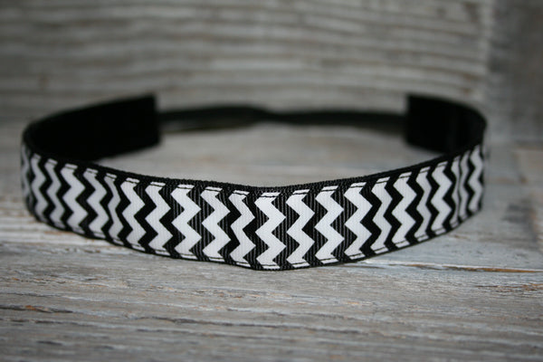 Black Chevron Headband