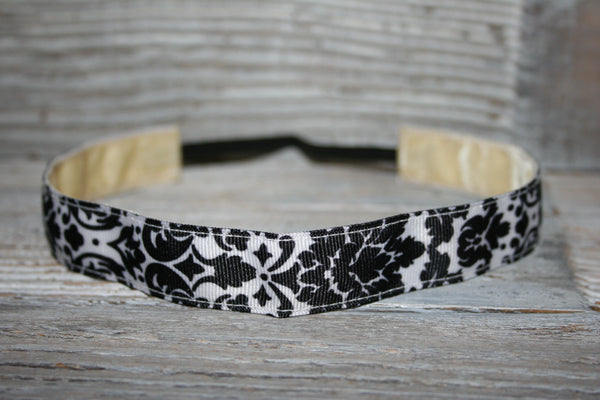 Black Damask Headband