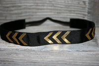 Black and Gold Shiny foil arrows Headband
