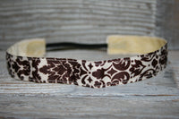 Brown Damask Headband