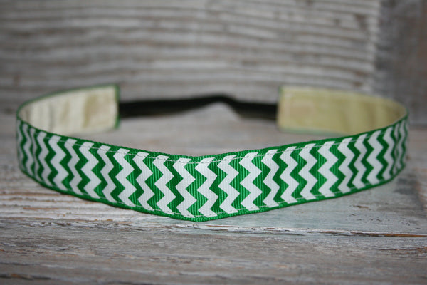 Kelly Green Chevron Headband