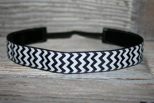 Navy Chevron Headband