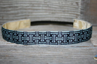 Navy and baby blue bars Headband