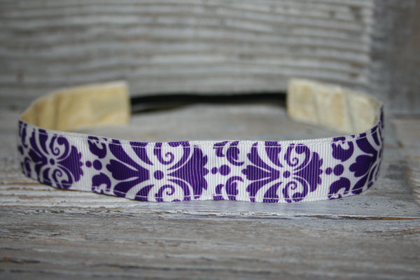 Purple Damask Headband