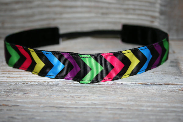 Rainbow Chevron Headband