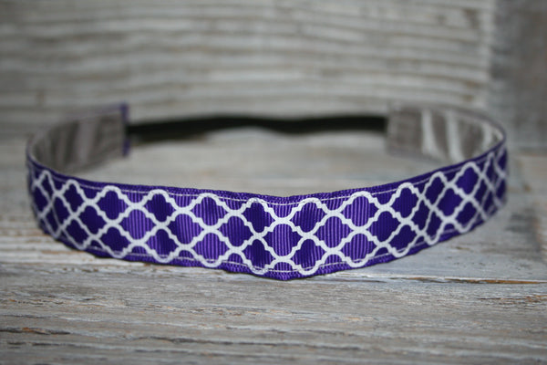 Regal Purple Chevron Headband