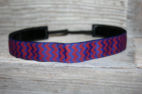 Royal and Red Chevron Headband