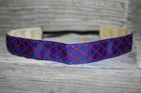Royal and Red Quatrefoil Headband
