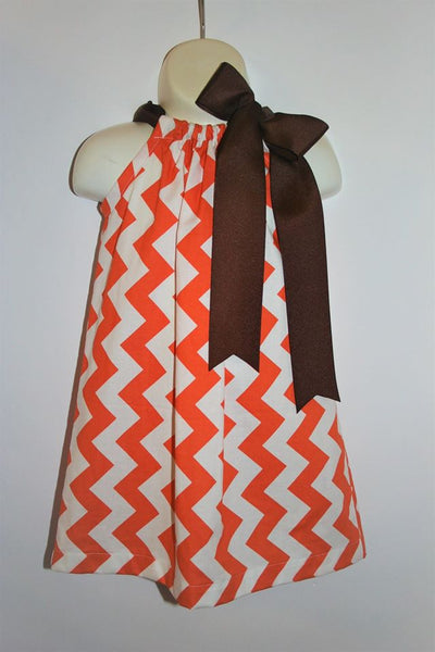 Orange and Brown Chevron Pillowcase Dresses
