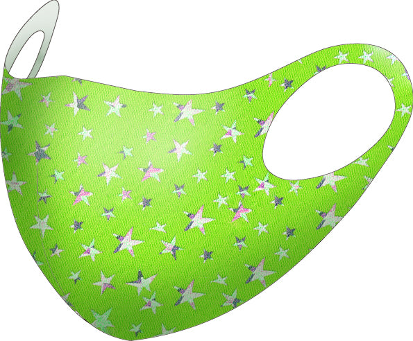 99% ATB-UV+ Reusable Fashion Mask with Antimicrobrial Silver-Ion Nanotechnology (Lime Star)