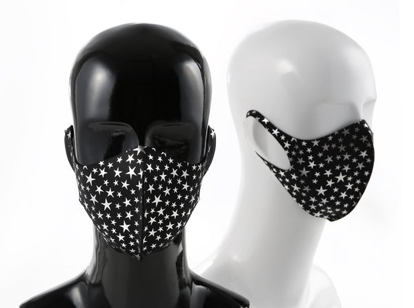 99% ATB-UV+ Reusable Fashion Mask with Antimicrobial Silver-Ion Nanotechnology (Silver Star)