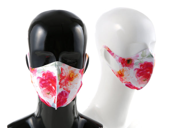 99% ATB-UV+ Reusable Fashion Mask with Antimicrobial Silver-Ion Nanotechnology (Rose)