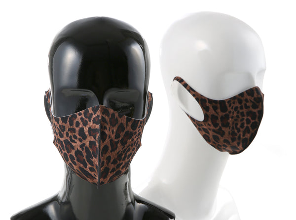 99% ATB-UV+ Reusable Fashion Mask with Antimicrobial Silver-Ion Nanotechnology (Brown Leopard)