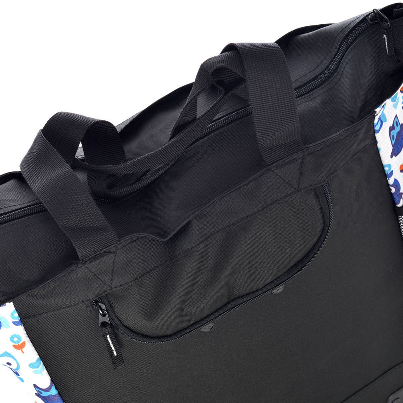 in. Olympia Fashion Rolling Shopper Tote 2300 cu Houndstooth