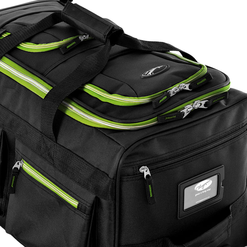 "22"" 8 Pocket Rolling Duffel w/ Neon Trims!"