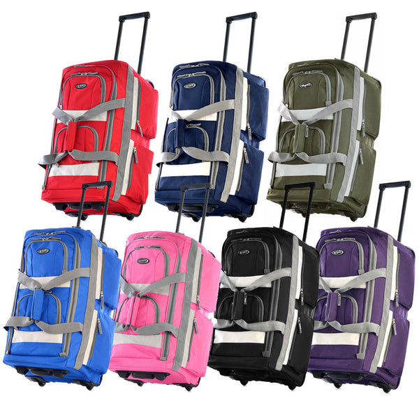 8 Pocket Rolling Duffel (4 sizes/6 colors!)
