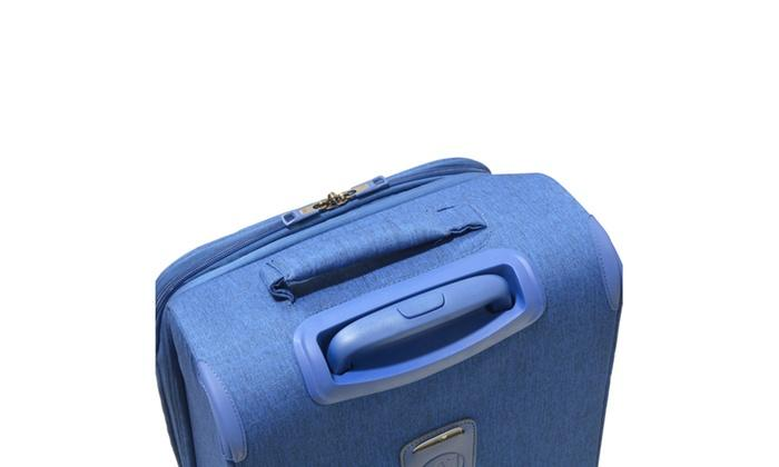 Blue Florence Handle Bar Xuitcase