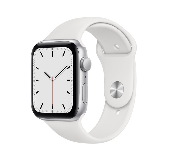 Apple Watch SE GPS, 44mm Silver Aluminium Case with Sport Band - Regular