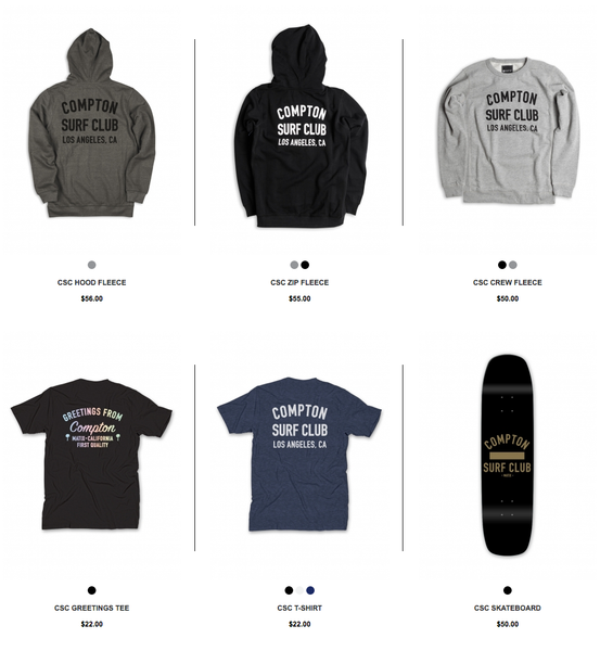 Compton Surf Club Matix Clothing