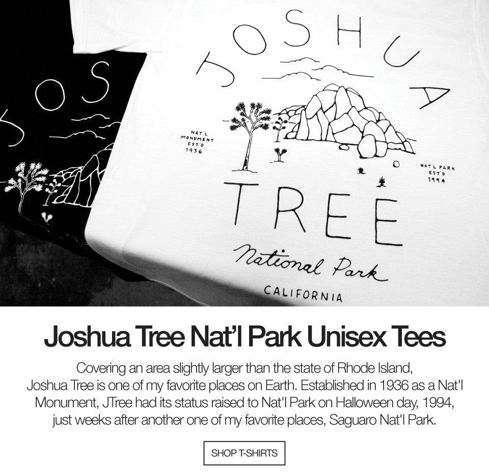 Joshua Tree National Park Unisex White Tshirt