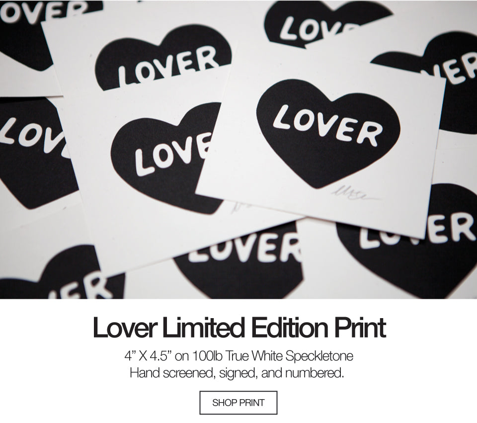 Lover Limited Edition Screen Print