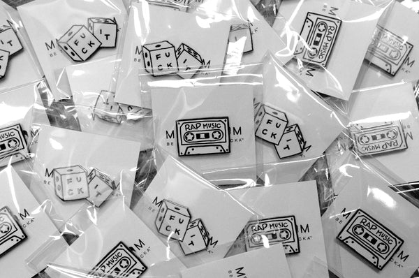 'Rap Music' and 'Fuck It' hard enamel pins