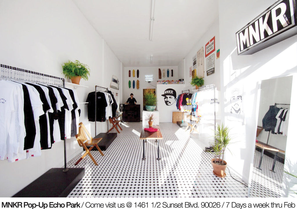 MNKR Pop Up Echo Park Los Angeles