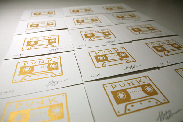 Punk Cassette Screen Prints / 2nd Edition