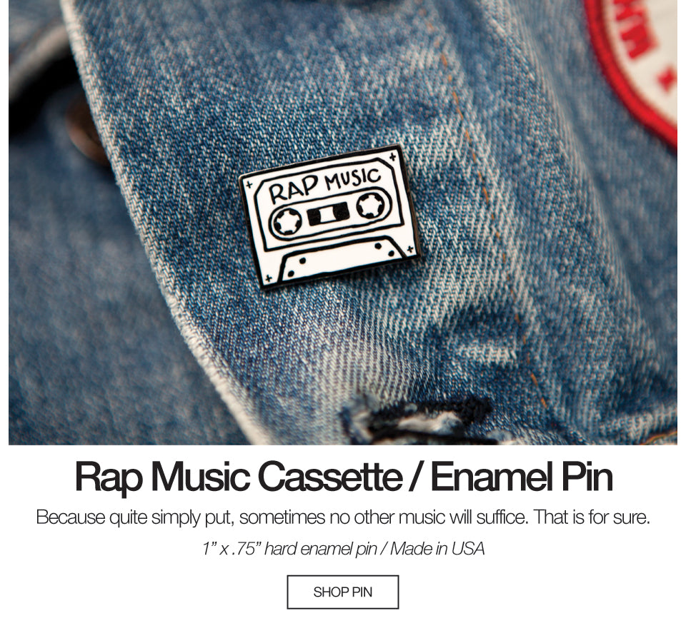 Rap Music Hard Enamel Pin