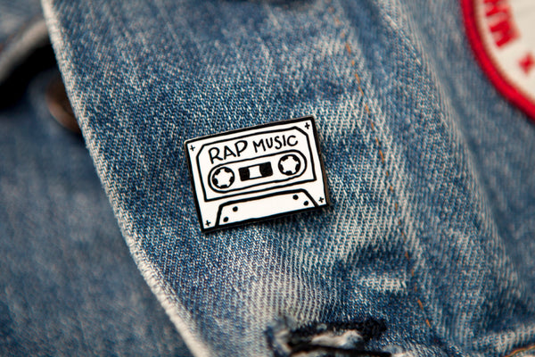 Rap Music hard enamel pin / MNKR