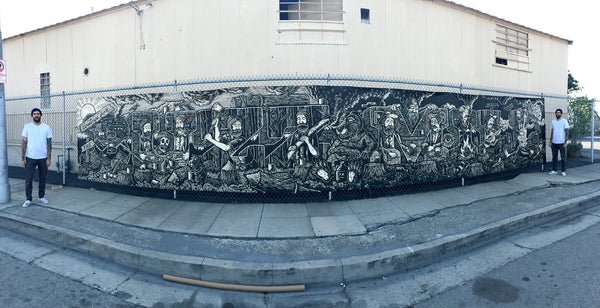 Chad Eaton Mural for Buzzmill in Austin Texas