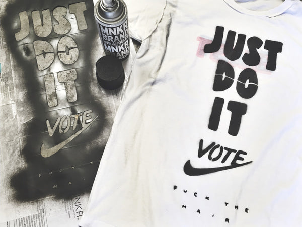 Just Do It Vote USA President Bootleg Stencil MNKR