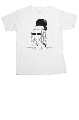 Cop Car Unisex T-shirt White