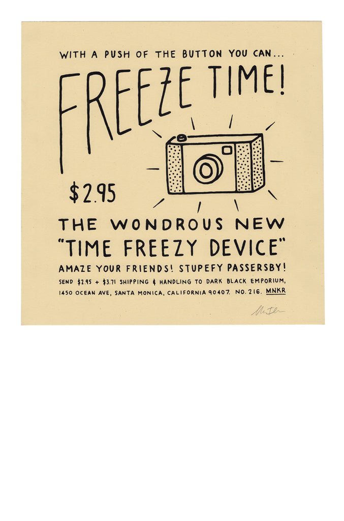 Freeze Time Print