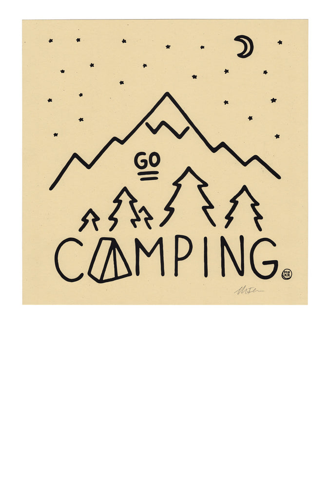 Go Camping Print