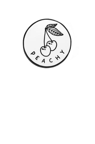 Peachy Enamel Pin