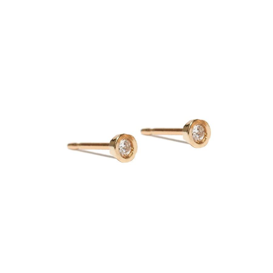 classic bezel earrings