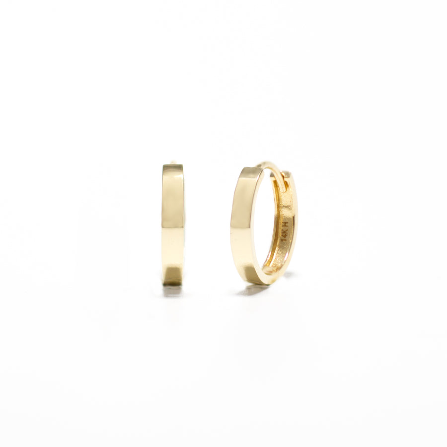 mini solid gold hoops