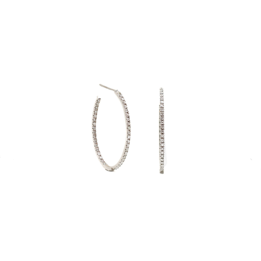 eternity diamond hoops