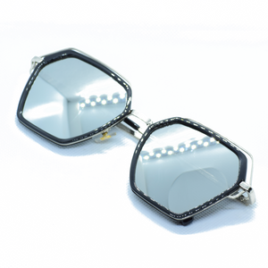 Hexagonal Metal Frame Sun Glasses - NUBAMALL