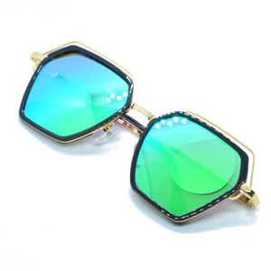 Hexagonal Metal Frame Sun Glasses