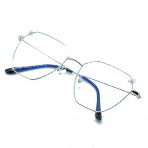 Butterfly Angular Metal Frame Eye Glasses - NUBAMALL
