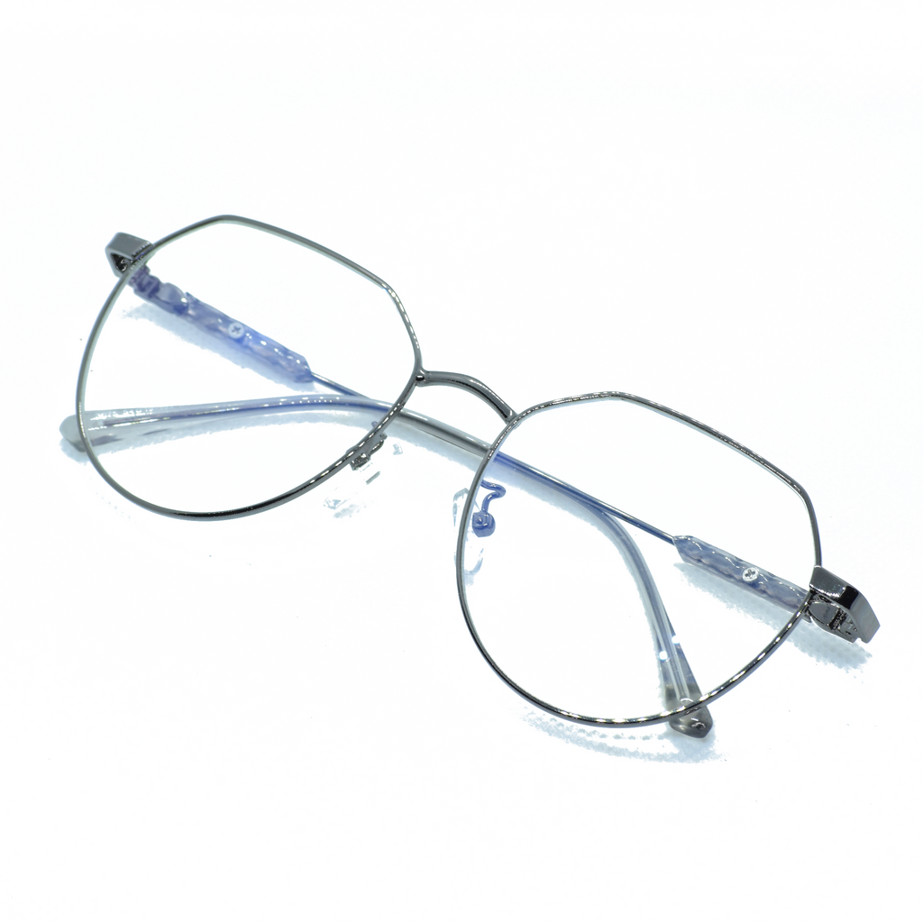 Thin Metal Frame Eye Glasses - NUBAMALL