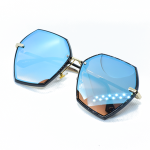 Hexagonal Frameless Sun Glasses - NUBAMALL