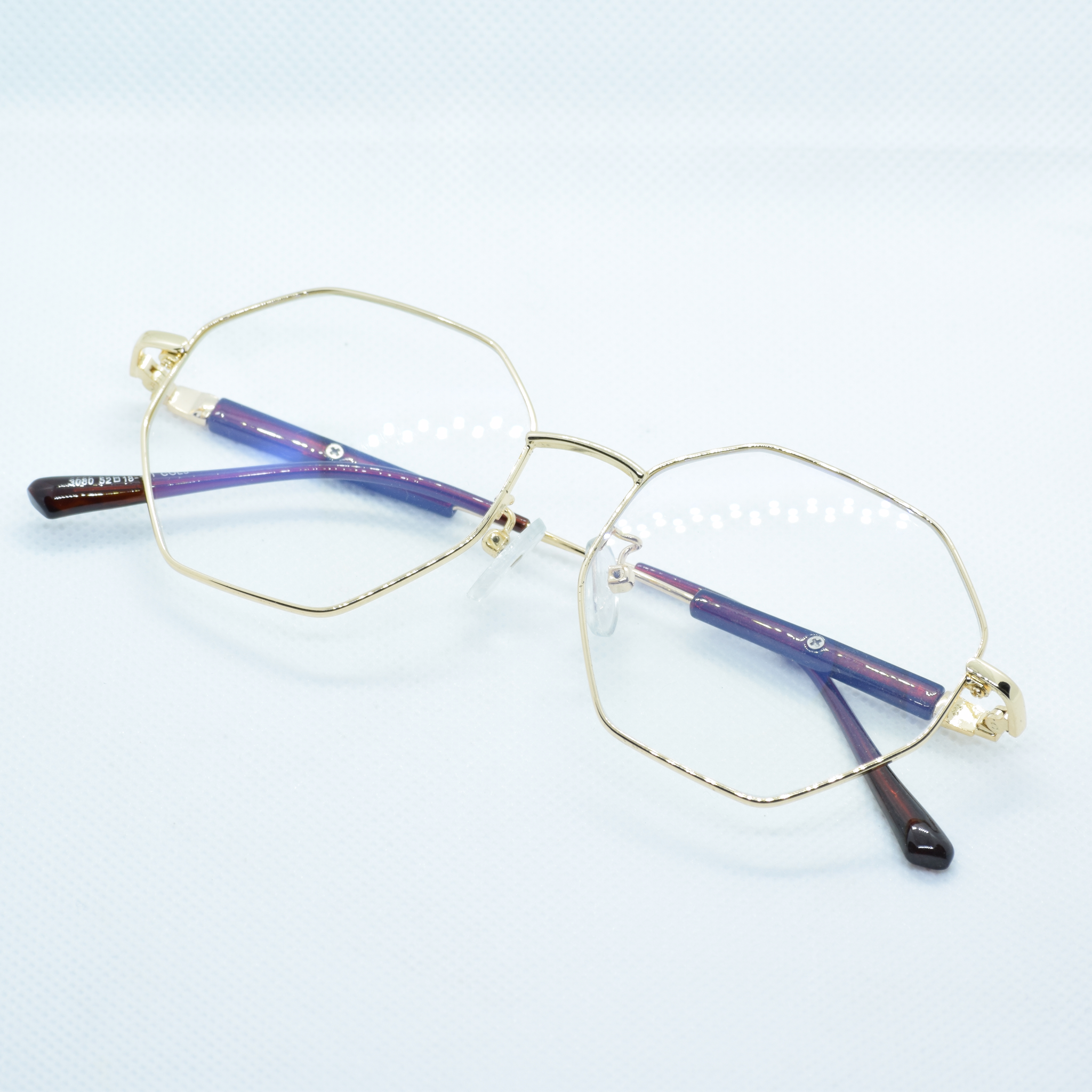 Hexagonal Metal Frame Eye Glasses - NUBAMALL