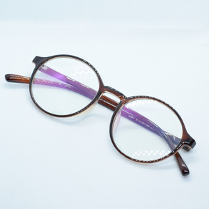 Round Acrylic Frame Eye Glasses