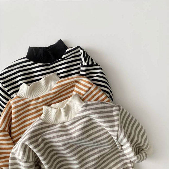 Stripe Turtleneck Sweatshirt